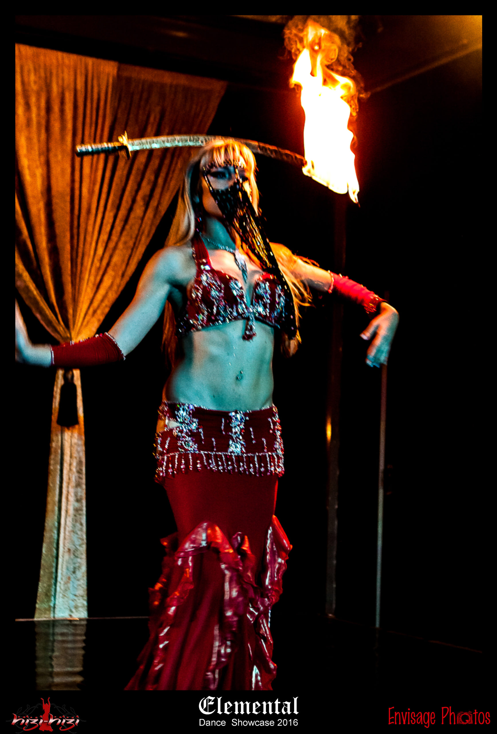 Hizi-Hizi Belly Dance Tarryn Rego Fire Sword